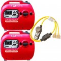 Milbank MPG2000IP2C - (2) 1800/3600 Watt Inverter Package w/ Parallel Cable Kit