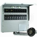 Reliance Controls Pro/Tran2 - 50-Amp (120/240V 10-Circuit) Indoor Transfer Switch w/ Wattmeters & Inlet