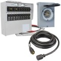 Reliance Controls 30-Amp (120/240V 10-Circuit) Power Transfer System w/ Interchangeable Breakers
