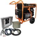 Generac GP17500E - 17,500 Watt Electric Start Portable Generator with Power Transfer Kit